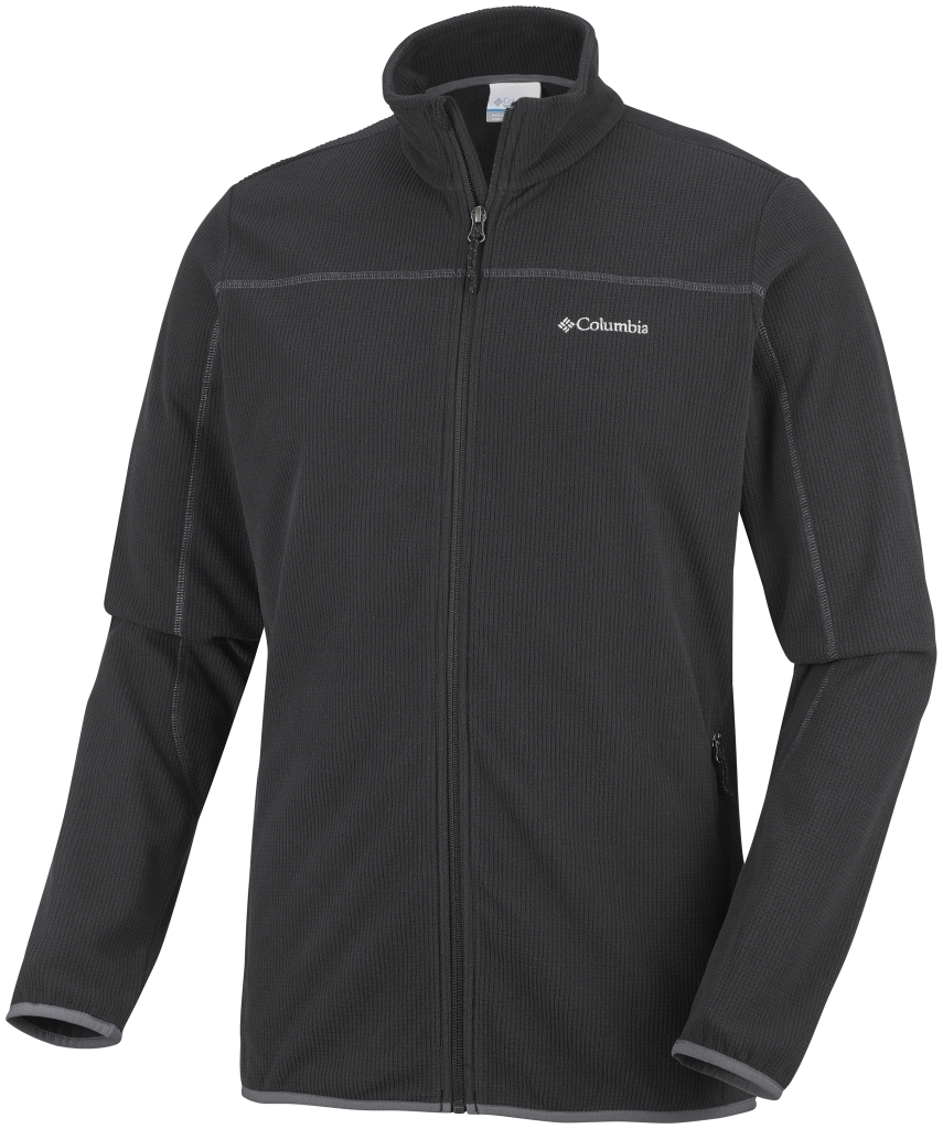 Columbia Men's Trails Edge Fleece Jacket Black Graphite-30
