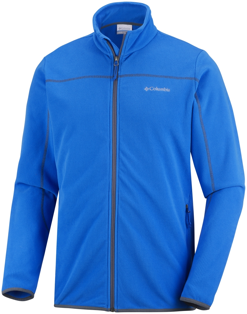 Columbia Men's Trails Edge Fleece Jacket Hyper Blue Graphite-30