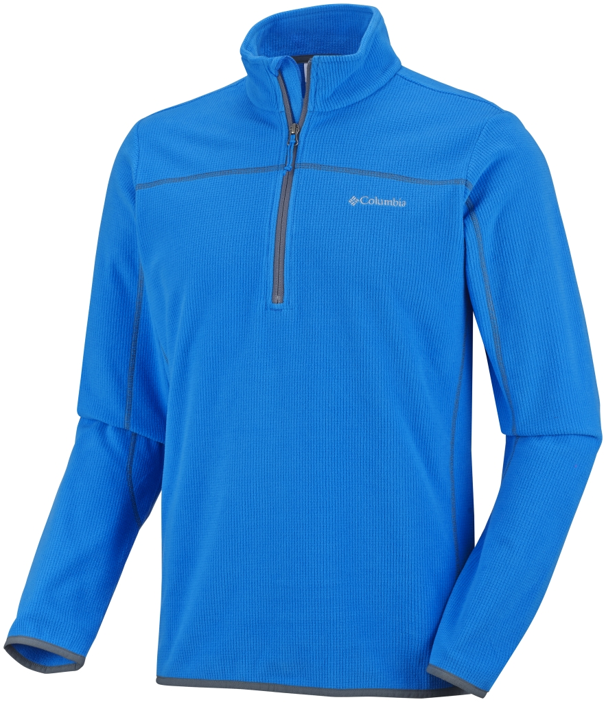 Columbia Men's Trails Edge Half Zip Fleece Hyper Blue Graphite-30