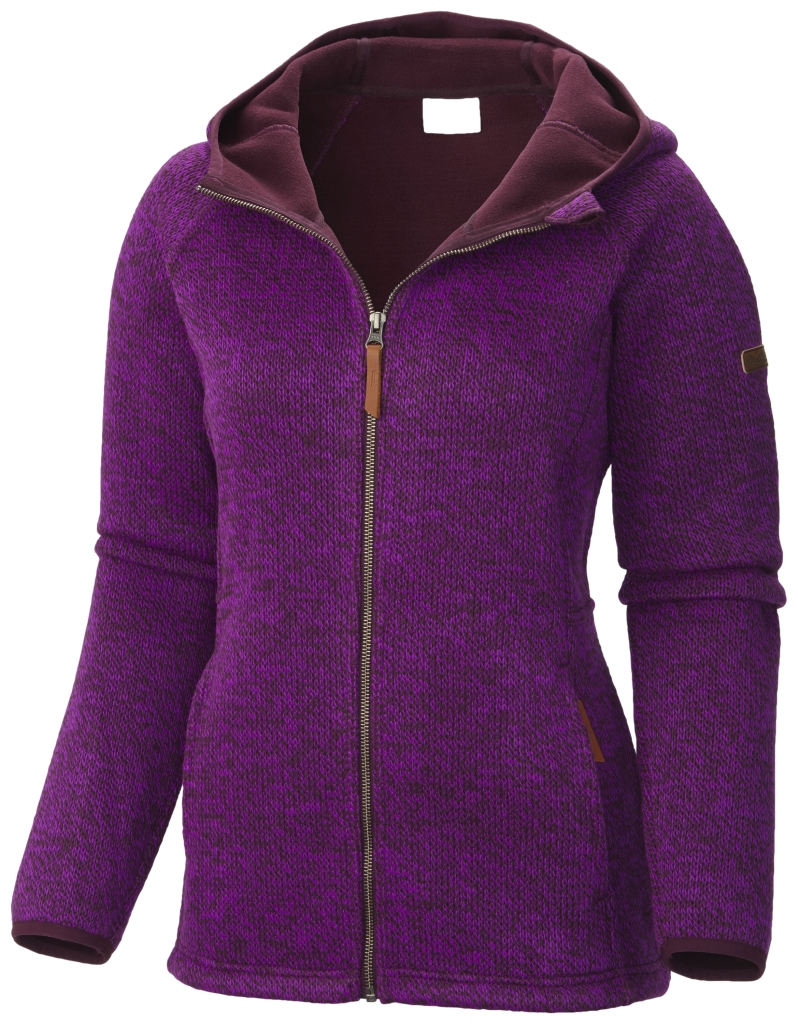 Columbia Women's Canyons Bend Full Zip Hoodie Purple Dahlia-30