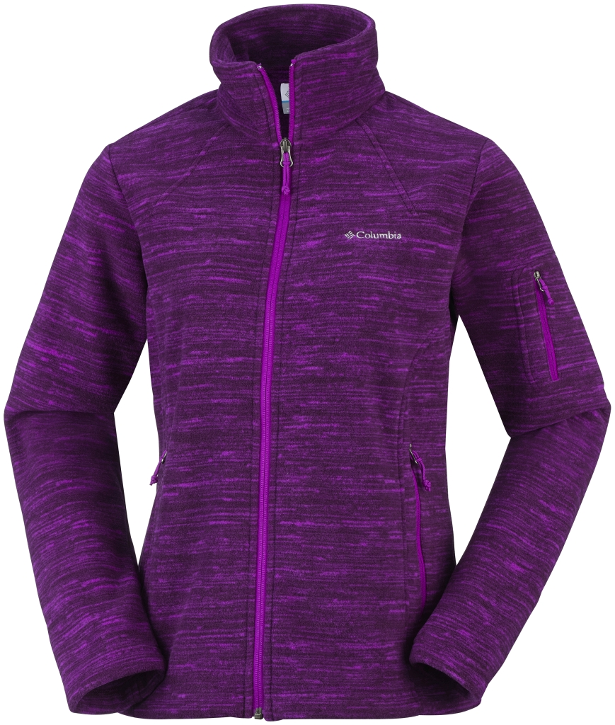 Columbia Women´s Fast Trek Printed Jacket Bright Plum Spacedye-30