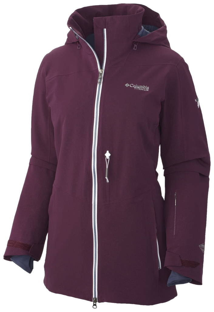 Columbia Women's Shreddin Jacket Purple Dahlia-30