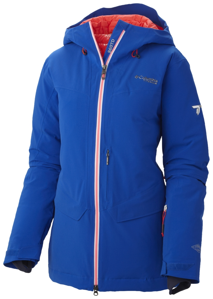 Columbia Women's First Tracks 860 Turbodown Jacket Blue Macaw-30