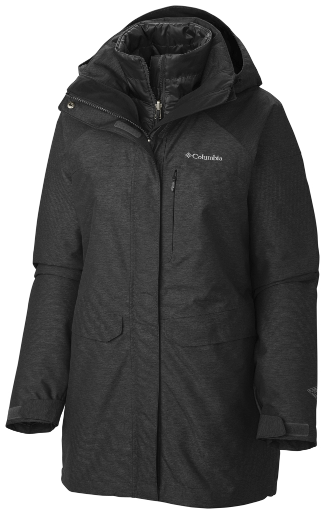 Columbia Women's Mystic Pines Long Interchange Jacket Black-30