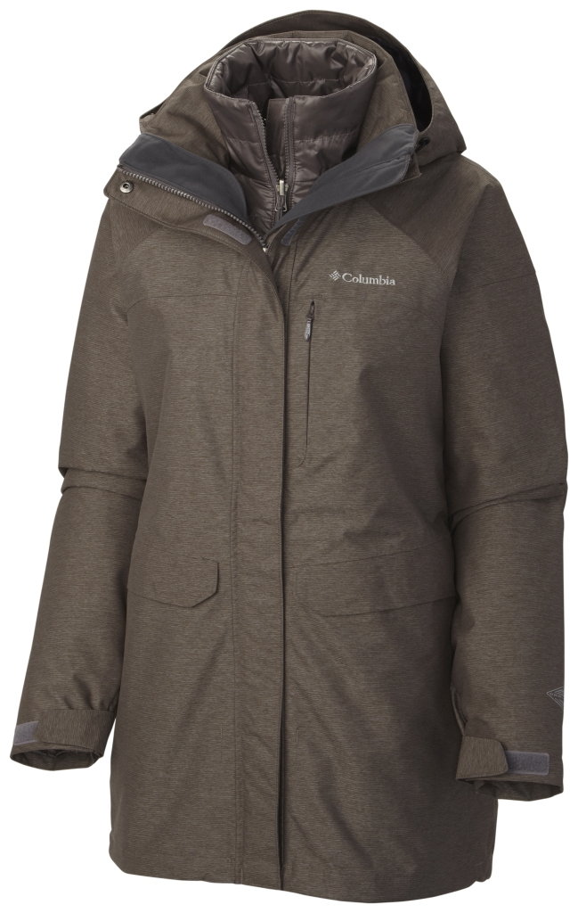 Columbia Women's Mystic Pines Long Interchange Jacket Mineshaft-30