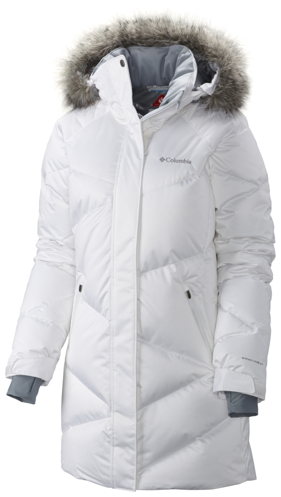 Columbia Women'S Lay D Down Mid Jacket White Satin-30