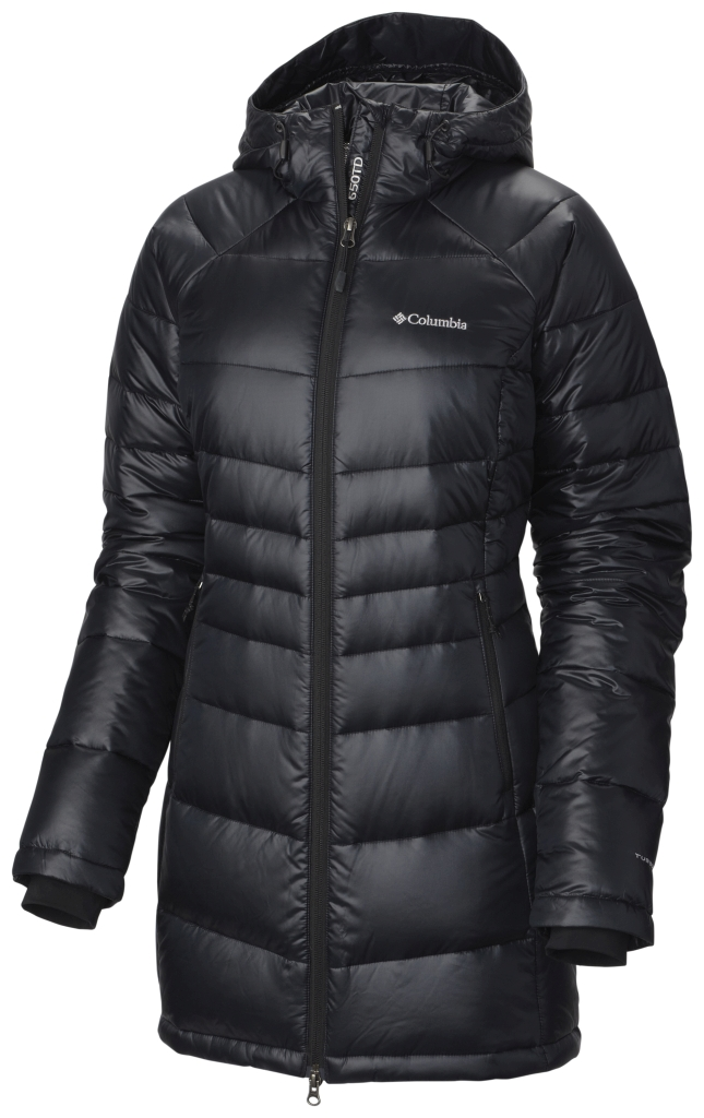 Columbia Women's Gold 650 Turbodown Radial Mid Jacket Black-30
