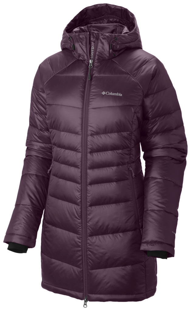 Columbia Women's Gold 650 Turbodown Radial Mid Jacket Purple Dahlia-30