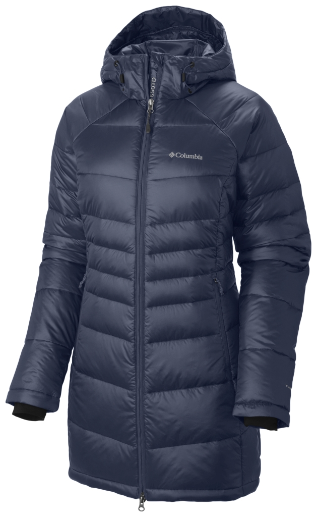 Columbia Women's Gold 650 Turbodown Radial Mid Jacket Nocturnal-30