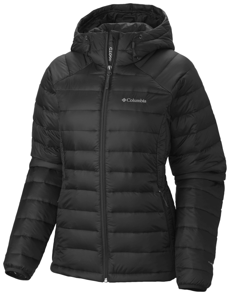 Columbia Women'S Platinum Plus 860 Turbodown Hooded Jacket Black-30