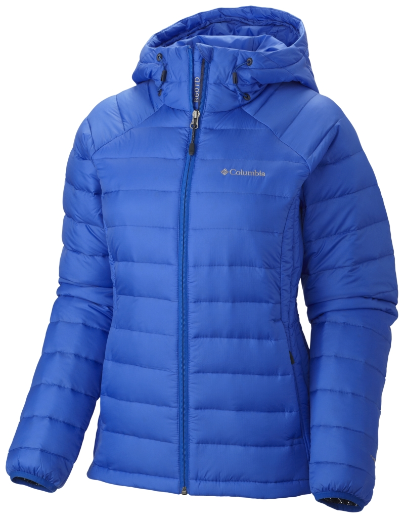 Columbia Women'S Platinum Plus 860 Turbodown Hooded Jacket Blue Macaw-30