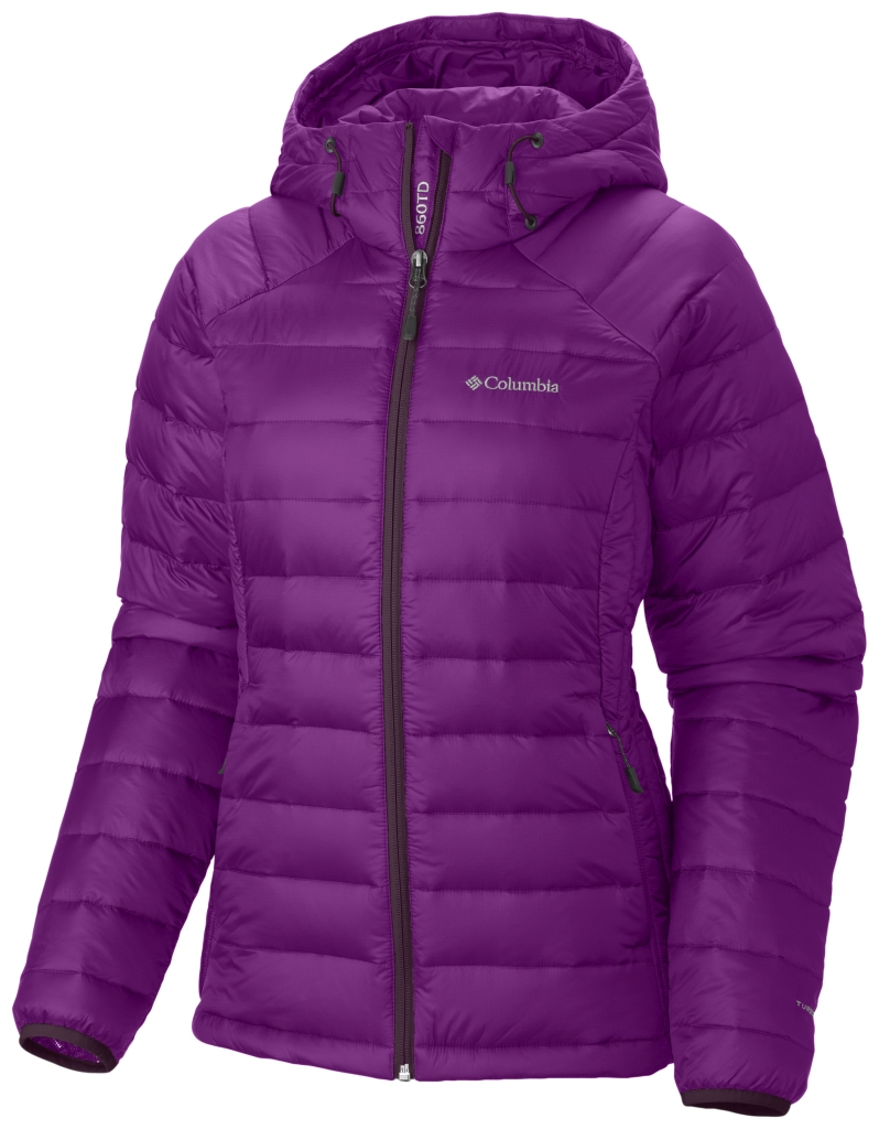 Columbia Women'S Platinum Plus 860 Turbodown Hooded Jacket Bright Plum Purple Dahlia-30