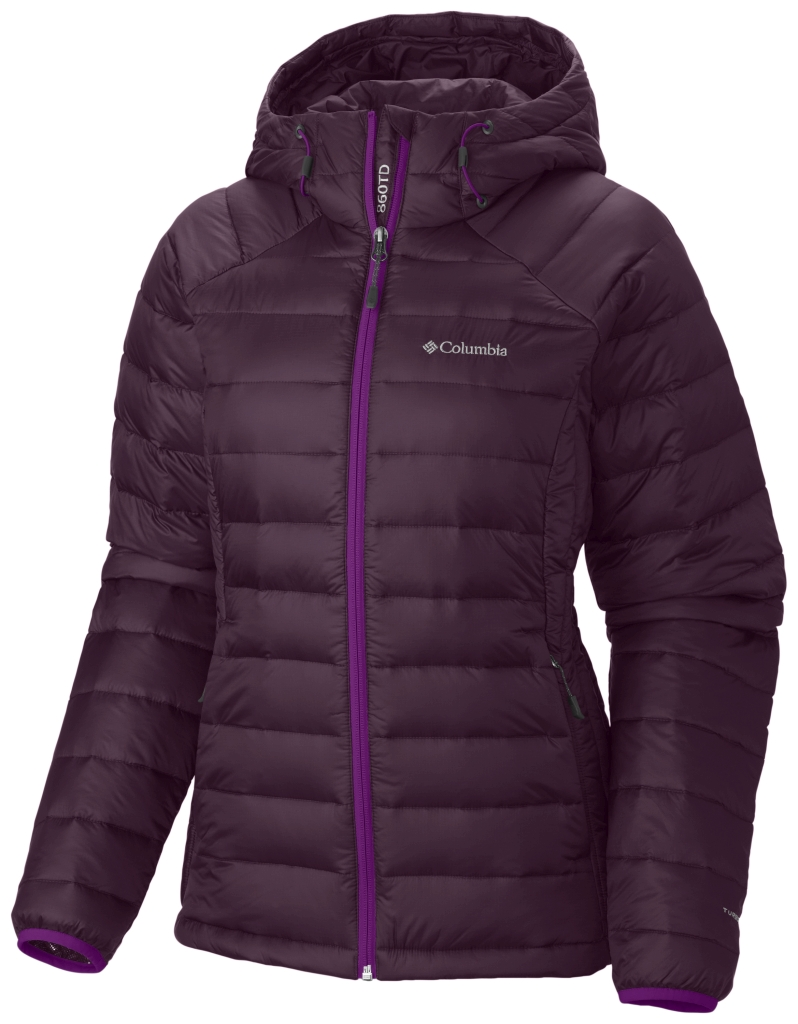 Columbia Women'S Platinum Plus 860 Turbodown Hooded Jacket Purple Dahlia Bright Plum-30