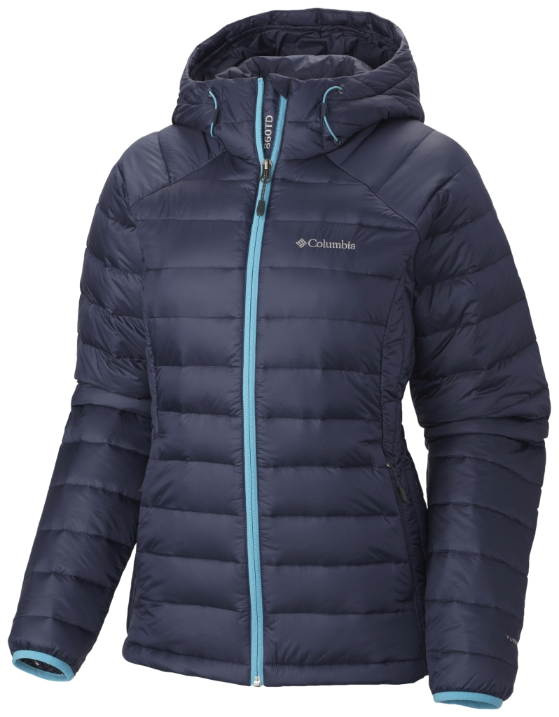 Columbia Women'S Platinum Plus 860 Turbodown Hooded Jacket Nocturnal Atoll-30
