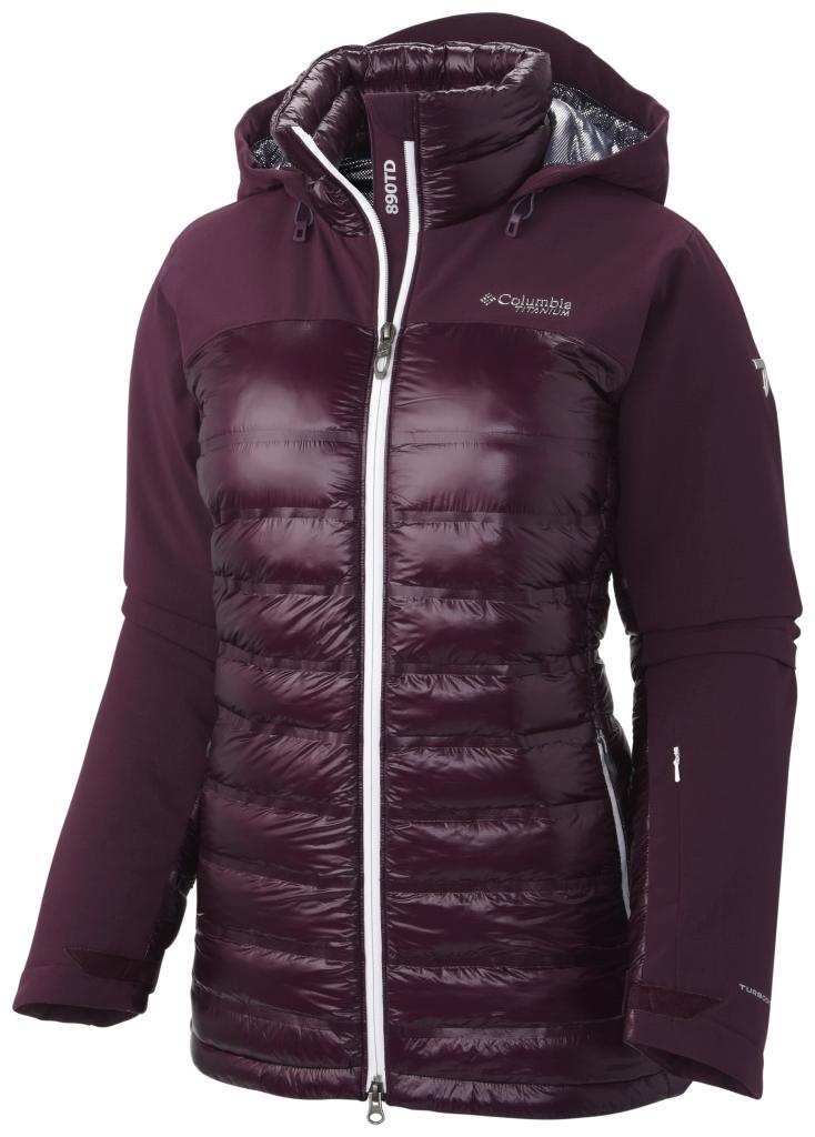 Columbia Women's Heatzone 1000 Turbodown Hooded Jacket Purple Dahlia-30