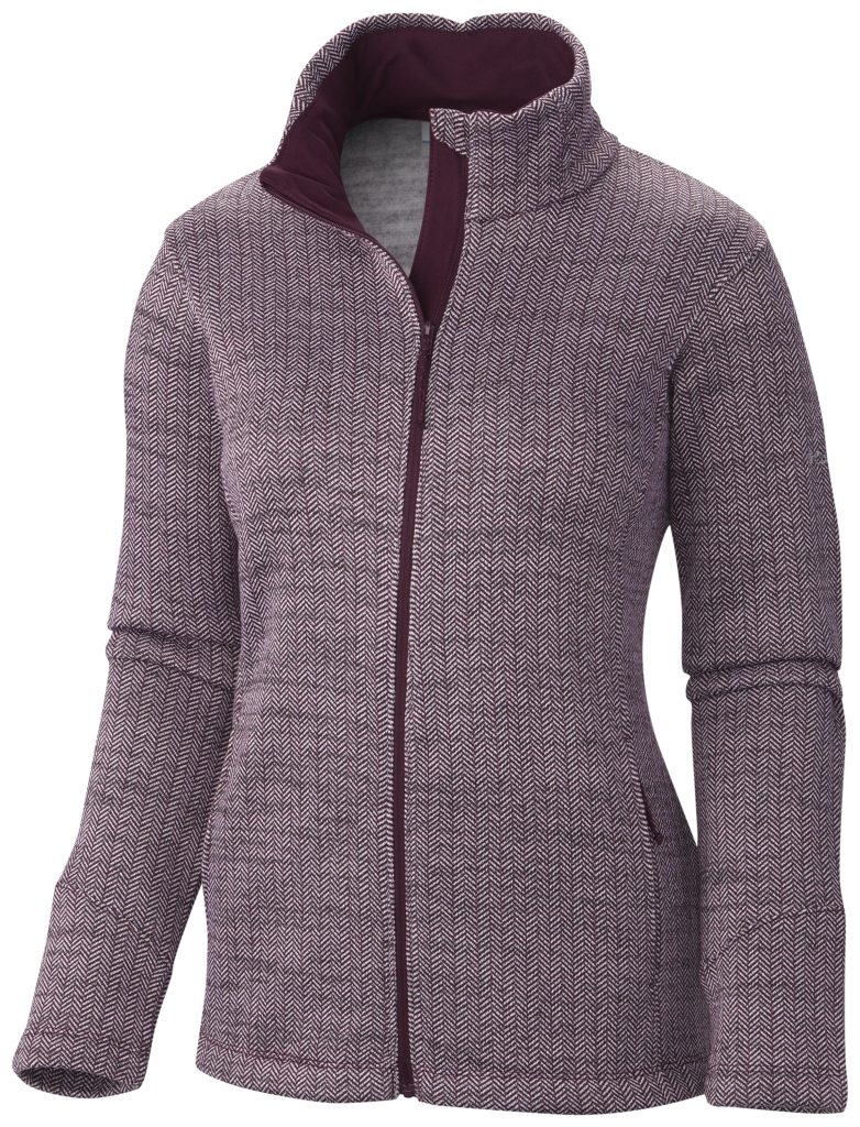 Columbia Optic Got It III Jacke Mit Fischgrätmuster Für Damen Purple Dahlia-30