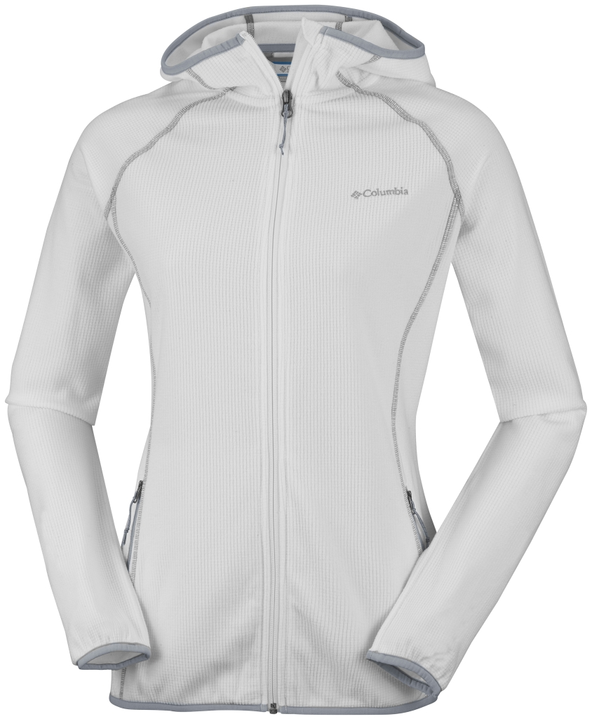 Columbia Women's Trails Edge Hooded Fleece Jacket Sea Salt-30