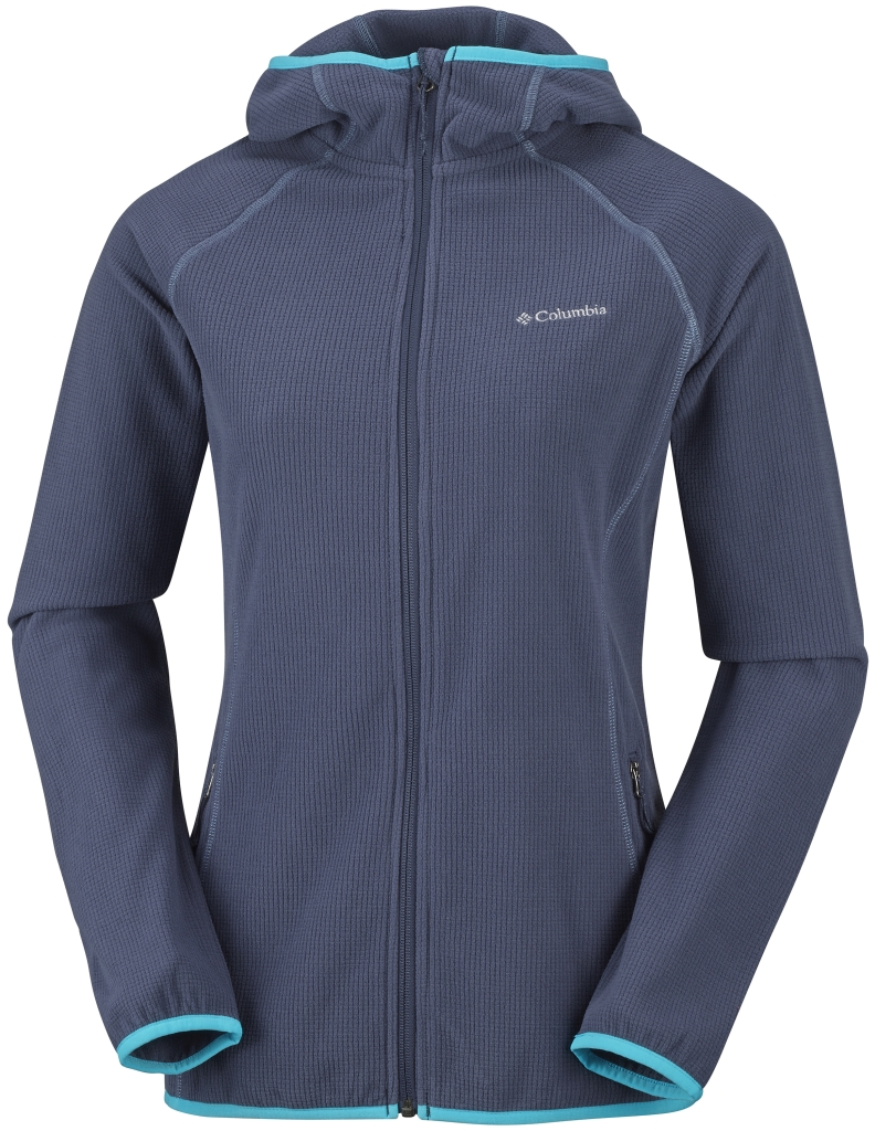 Columbia Women's Trails Edge Hooded Fleece Jacket Nocturnal-30