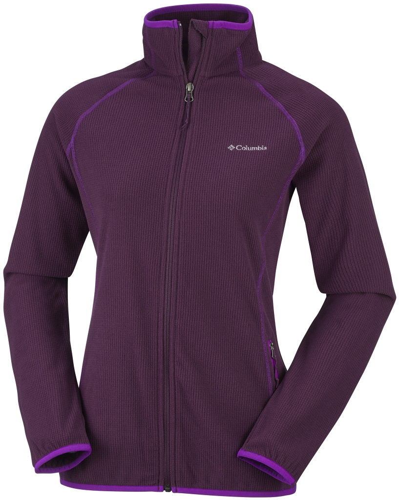 Columbia Women's Trails Edge Fleece Jacket Purple Dahlia-30