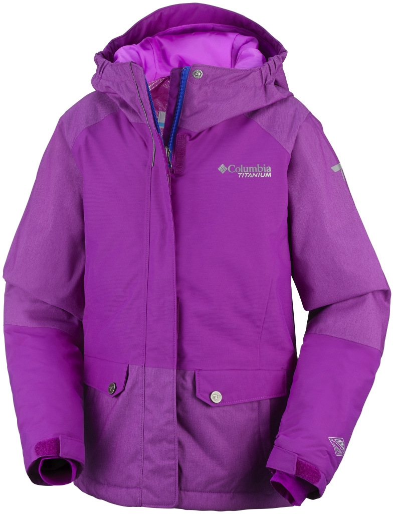 Columbia Girl's Shredlicious Jacket Bright Plum-30