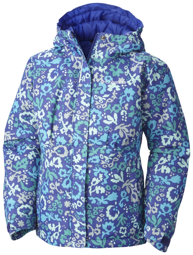 Columbia Girl's Flurry Flash Jacket Atoll Floral-30