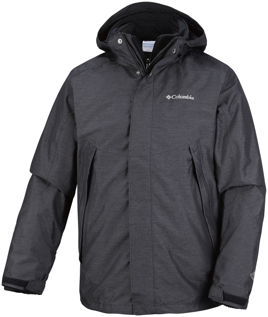 Columbia Men's Sestrieres Interchange Jacket Black Crossdye Black-30