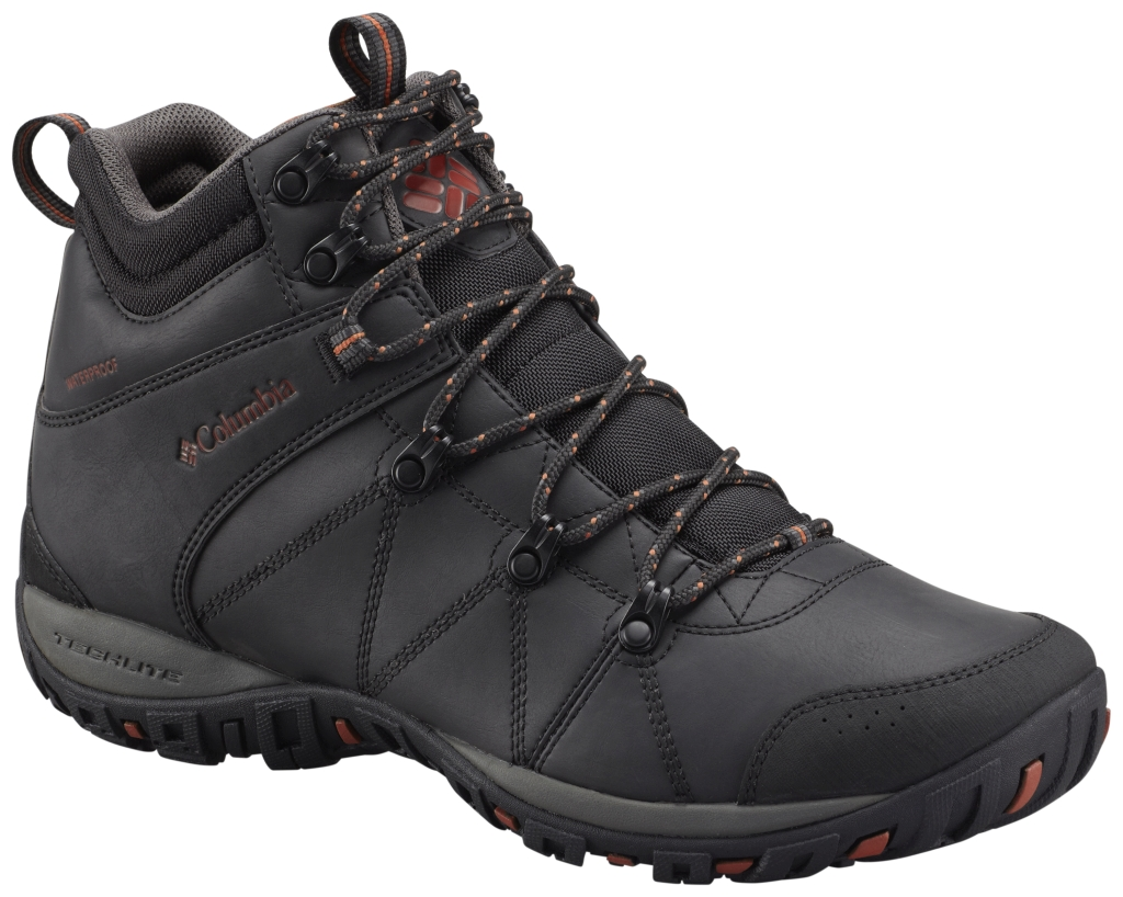 Columbia Men's Peakfreak Venture Mid Waterproof Omni-Heat Black Sanguine-30