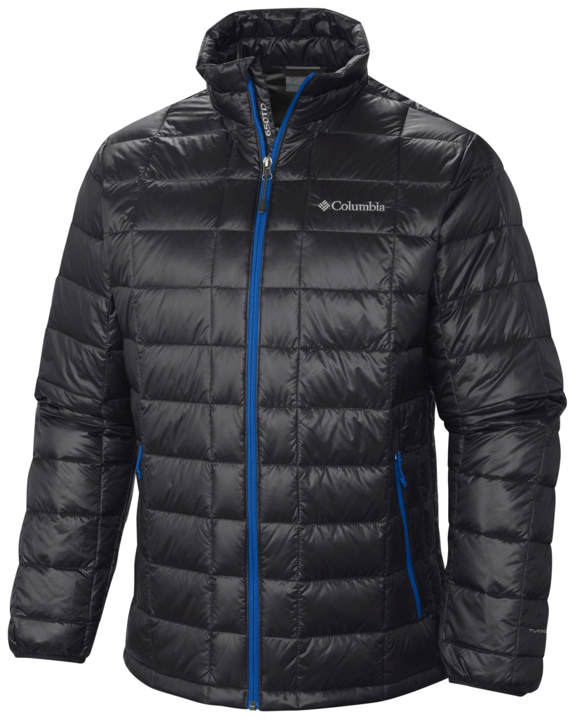 Columbia Men's Trask Mountain 650 Turbodown Jacket Black Hyper Blue-30