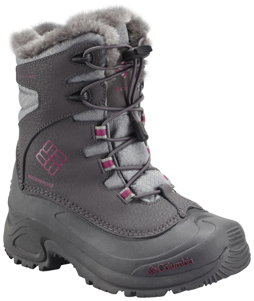 Columbia Youth Bugaboot Plus III Omni-Heat Boot Shale Deep Blush-30