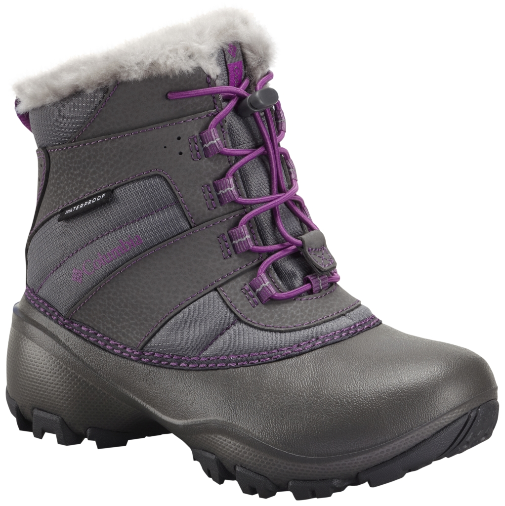Columbia Girl´s Rope Tow III Waterproof Boot Youth Charcoal Razzle-30