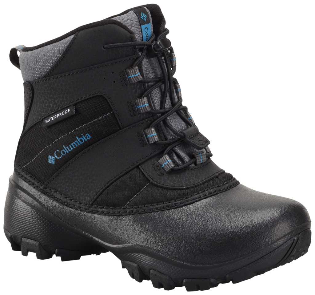 Columbia Boy´s Rope Tow III Waterproof Boot Youth Black Dark Compass-30