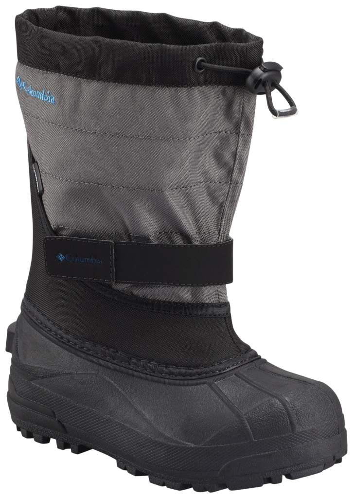 Columbia Youth Powderbug Plus II Snow Boot Black Hyper Blue-30