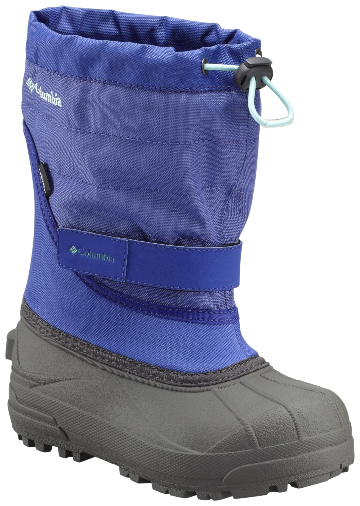 Columbia Youth Powderbug Plus II Snow Boot Purple Lotus Gulf Stream-30