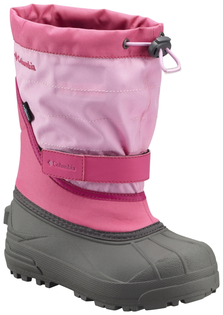 Columbia Youth Powderbug Plus II Snow Boot Glamour Orchid-30