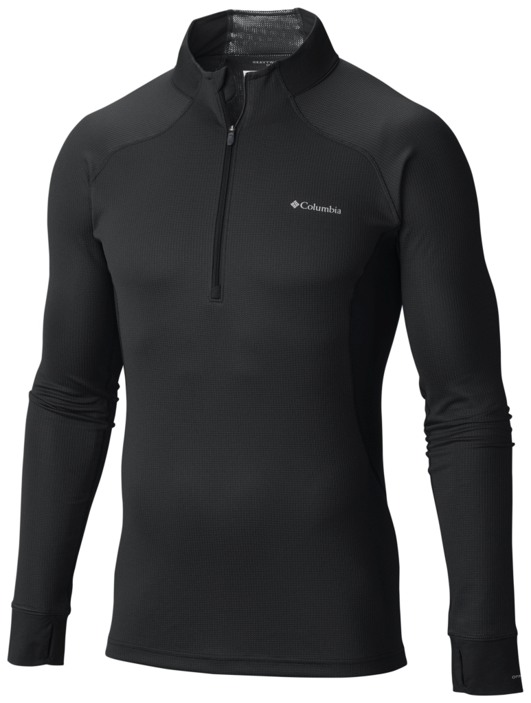 Columbia Men's Heavyweight II Stretch Baselayer Long Sleeve Half Zip Shirt Black-30