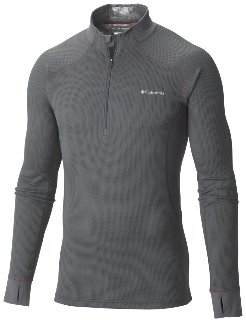 Columbia Men's Heavyweight II Stretch Baselayer Long Sleeve Half Zip Shirt Graphite-30