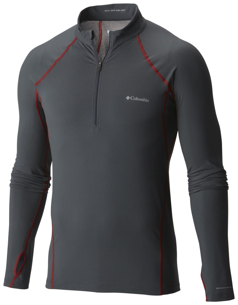 Columbia Men's Midweight Stretch Long Sleeve Baselayer Half Zip Shirt Graphite-30
