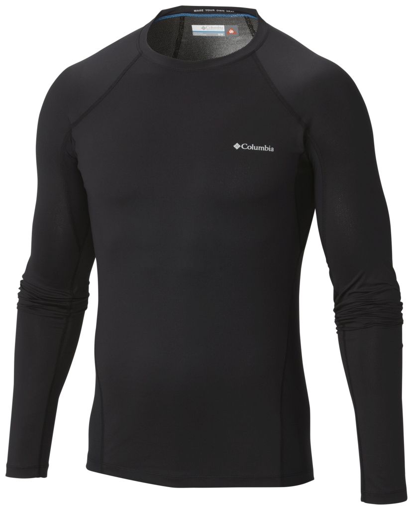 Columbia Men's Midweight Stretch Baselayer Long Sleeve Shirt Black-30