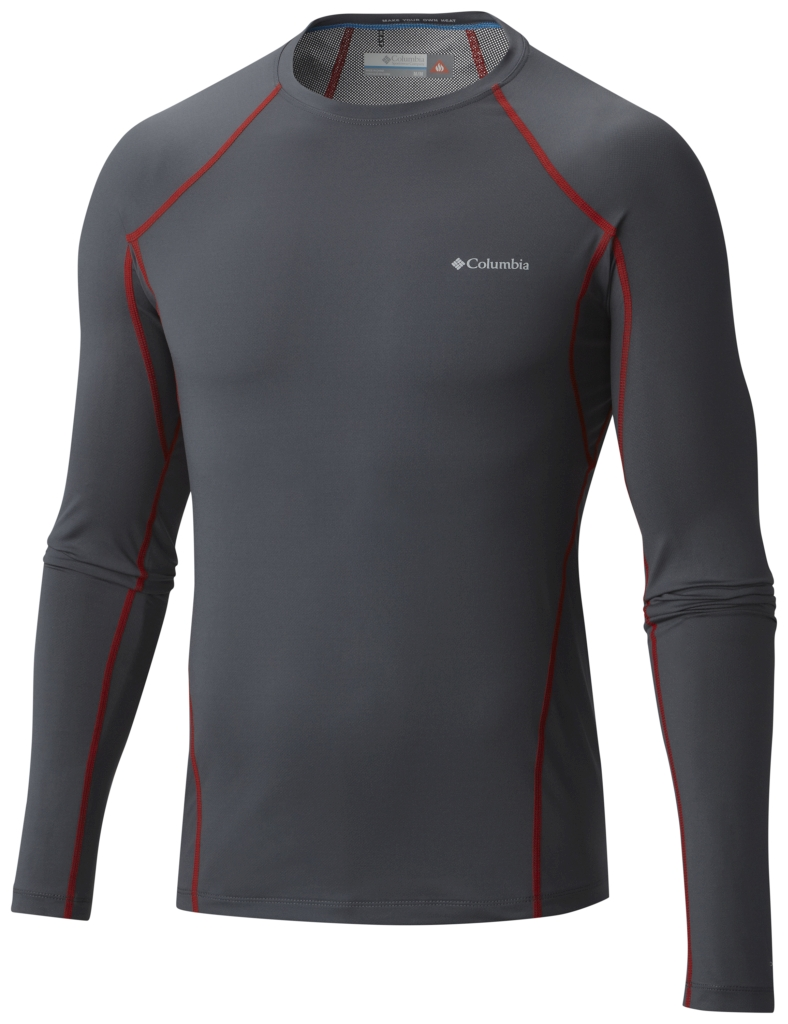 Columbia Men's Midweight Stretch Baselayer Long Sleeve Shirt Graphite-30