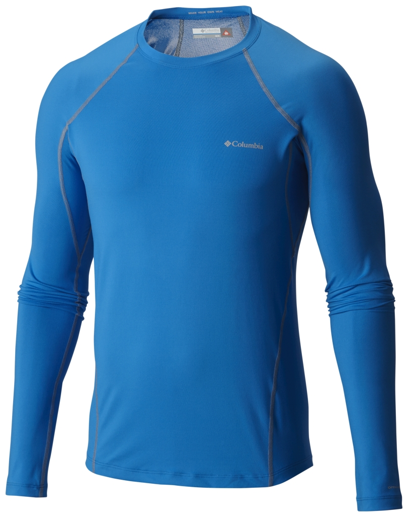 Columbia Men's Midweight Stretch Baselayer Long Sleeve Shirt Hyper Blue-30