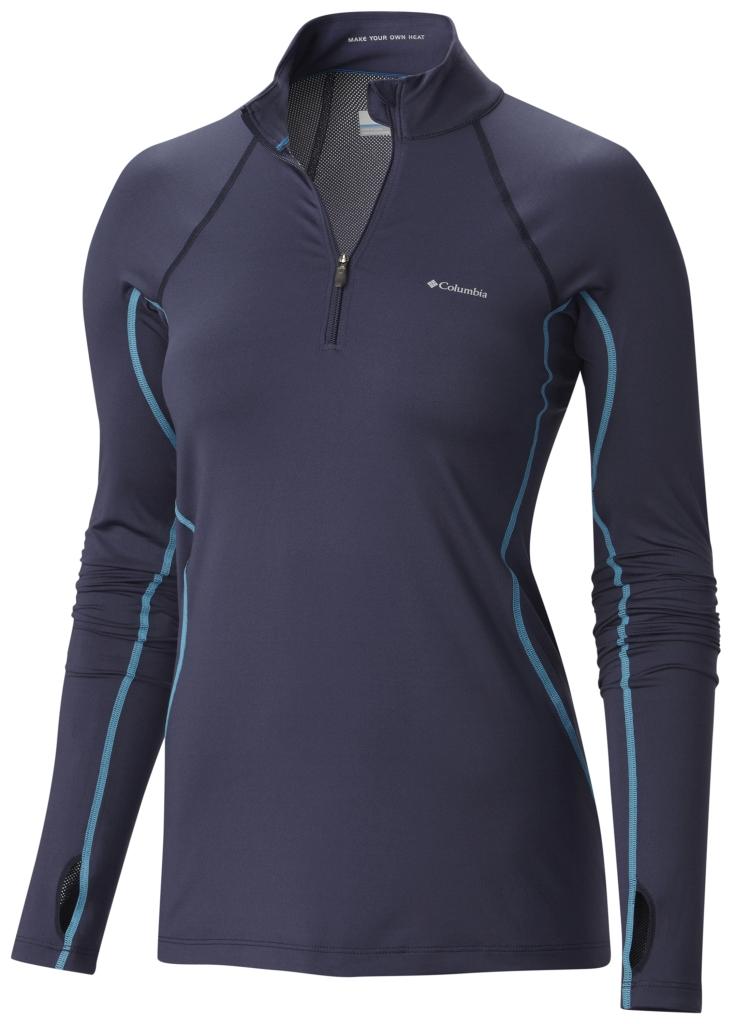 Columbia Women's Midweight Stretch Baselayer Long Sleeve Half Zip Shirt Nocturnal-30