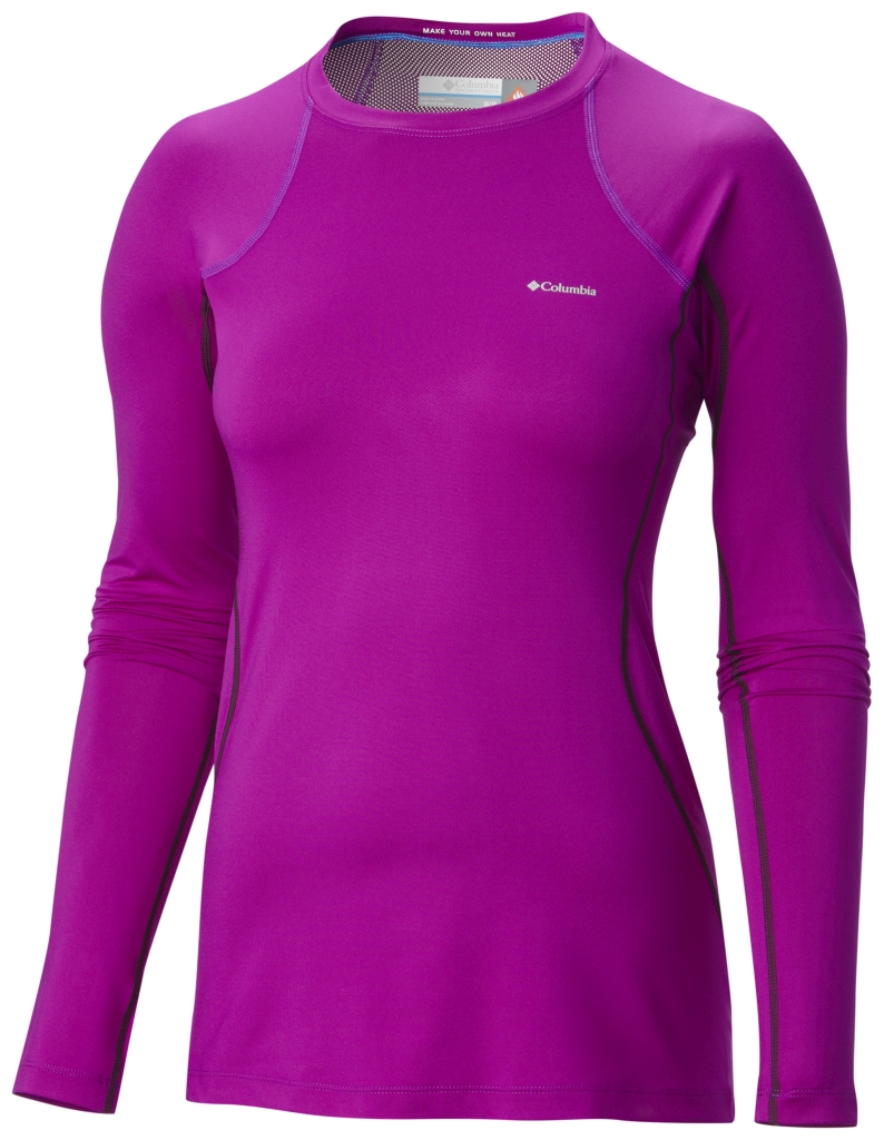 Columbia Women's Midweight Stretch Baselayer Long Sleeve Top Bright Plum-30