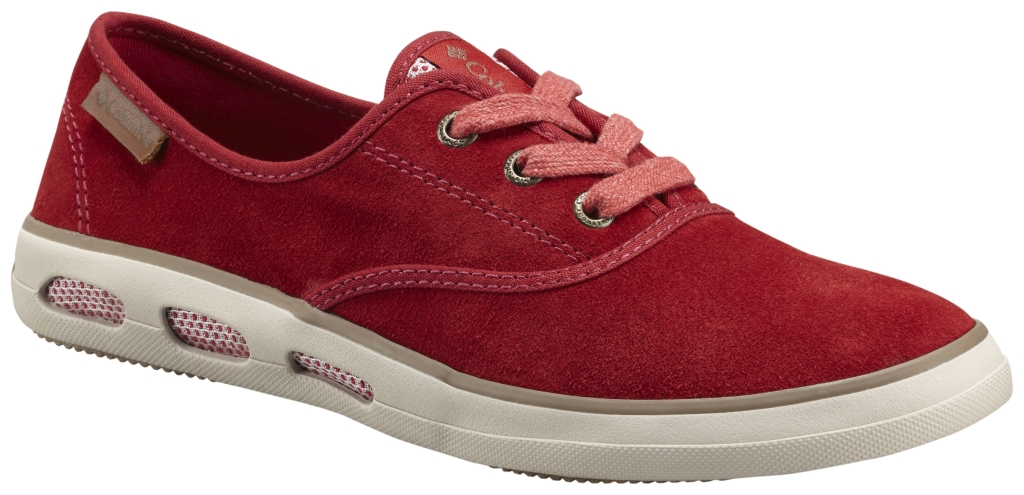 Columbia Women's Vulc N' Vent Lace Suede Red Dahlia Truffle-30