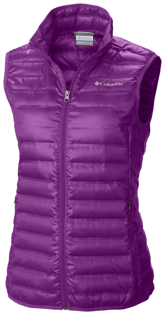 Columbia Women's Flash Forward Down Vest Bright Plum-30