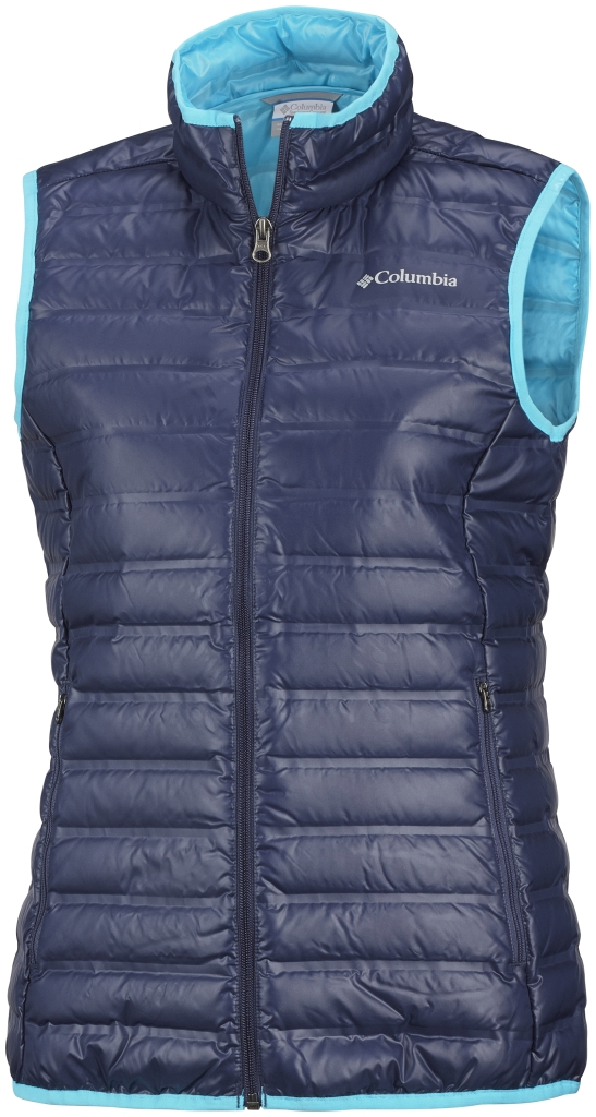 Columbia Women's Flash Forward Down Vest Nocturnal Atoll-30