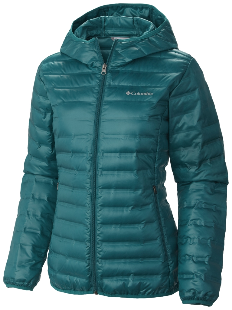 Columbia Women's Flash Forward Hooded Down Jacket Emerald-30