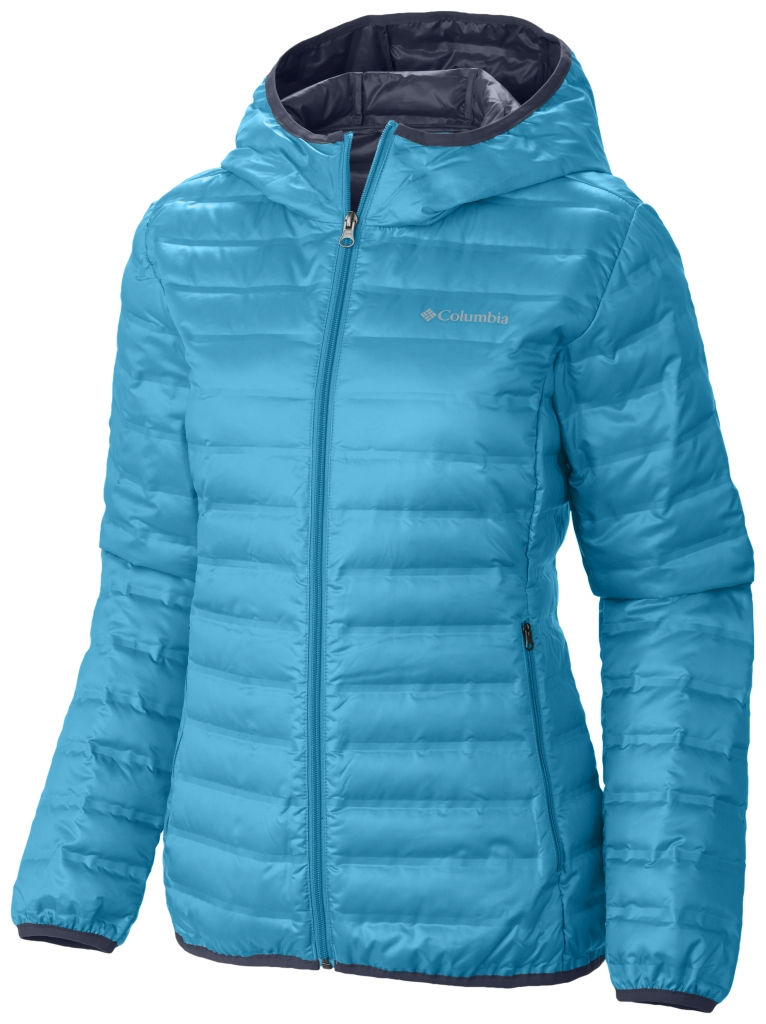 Columbia Women's Flash Forward Hooded Down Jacket Atoll Nocturnal-30