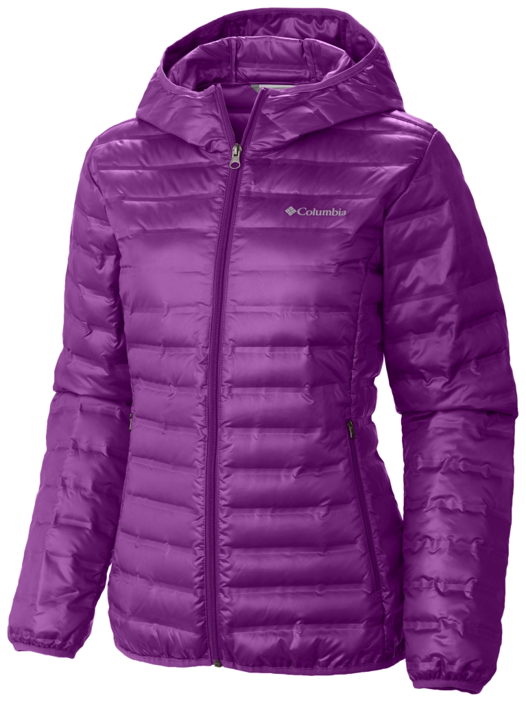 Columbia Women's Flash Forward Hooded Down Jacket Bright Plum-30