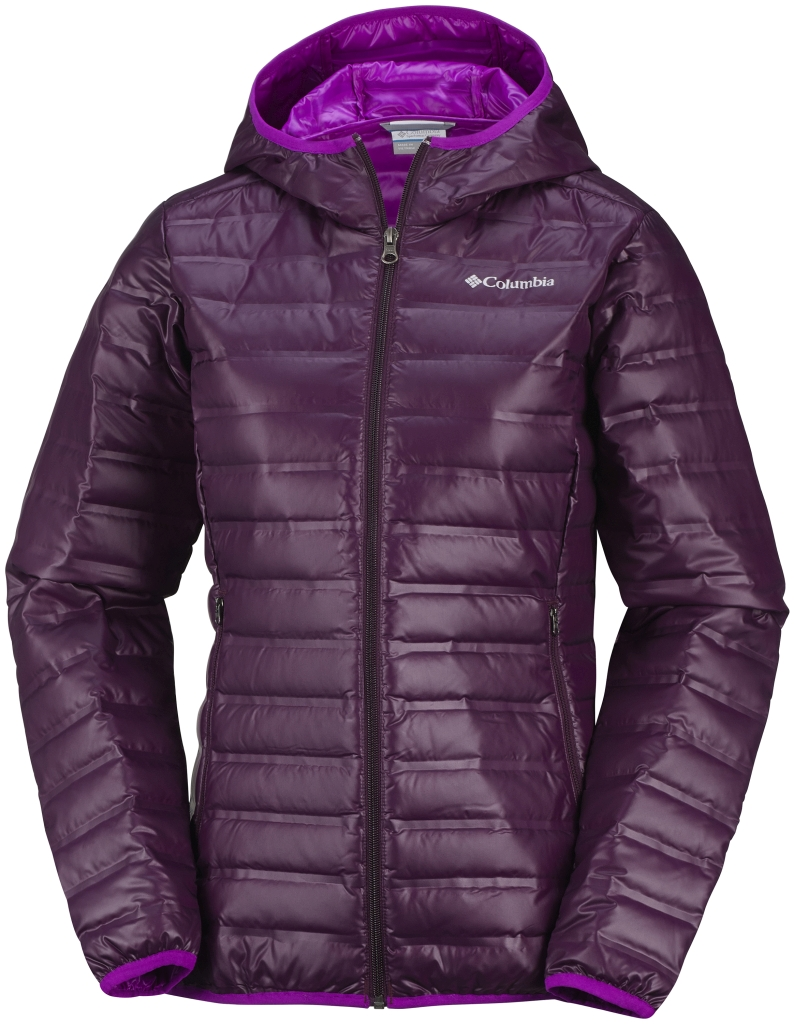 Columbia Women's Flash Forward Hooded Down Jacket Purple Dahlia Bright Plum-30