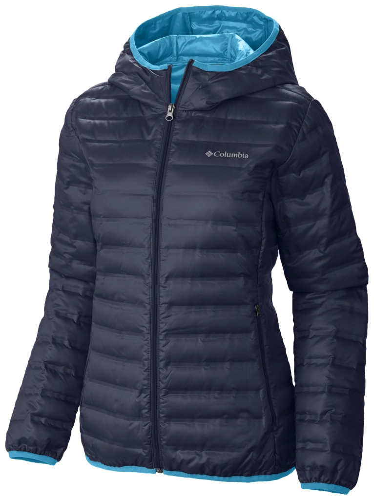 Columbia Women's Flash Forward Hooded Down Jacket Nocturnal Atoll-30